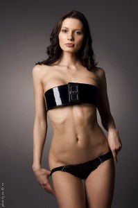Using a Black Belt for the Bra with Black Panties.