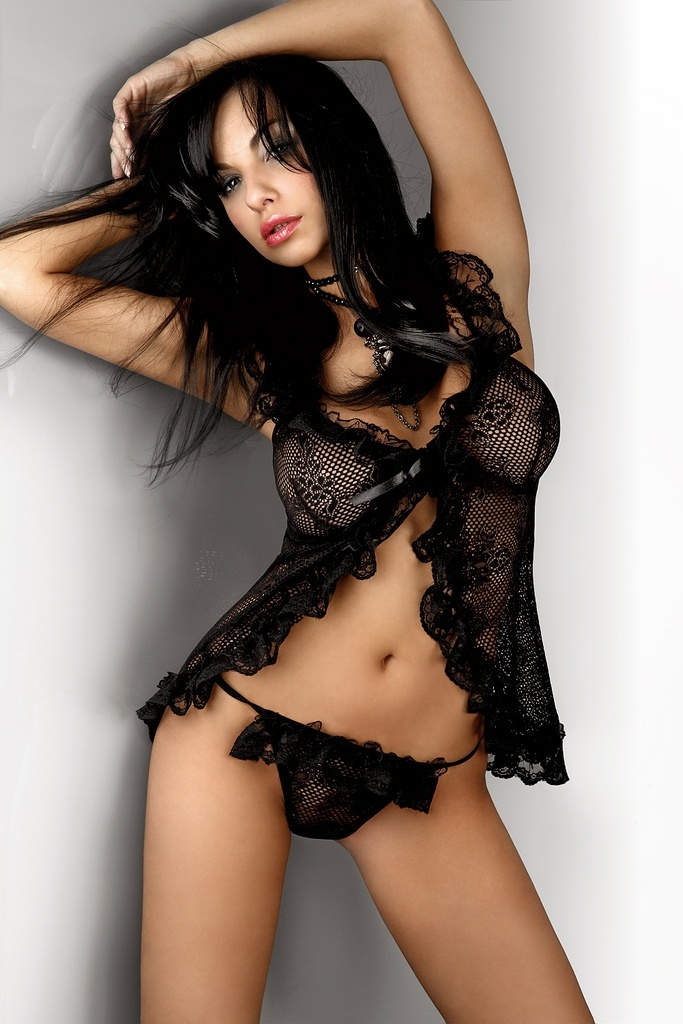 Black Lace Babydoll G String