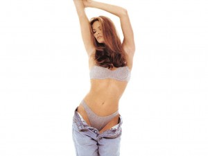 Elle Macpherson Gray Bra and Knickers in Jeans