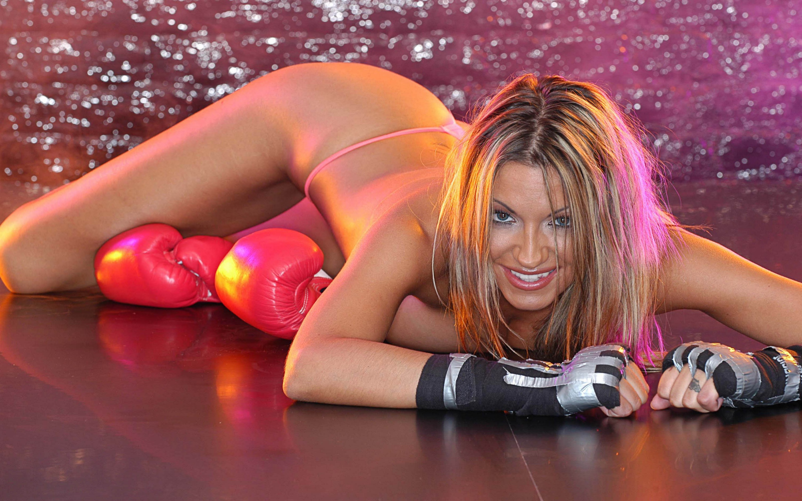 Pink G String Boxing Gloves