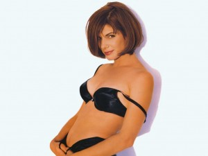 Sandra Bullock in a Black Bra