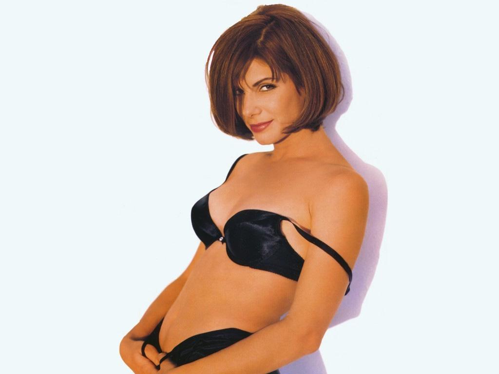 Sandra Bullock Black Bra