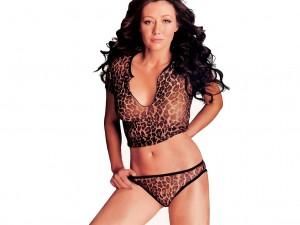 Shannen Doherty Leopard Print Bra and Panties