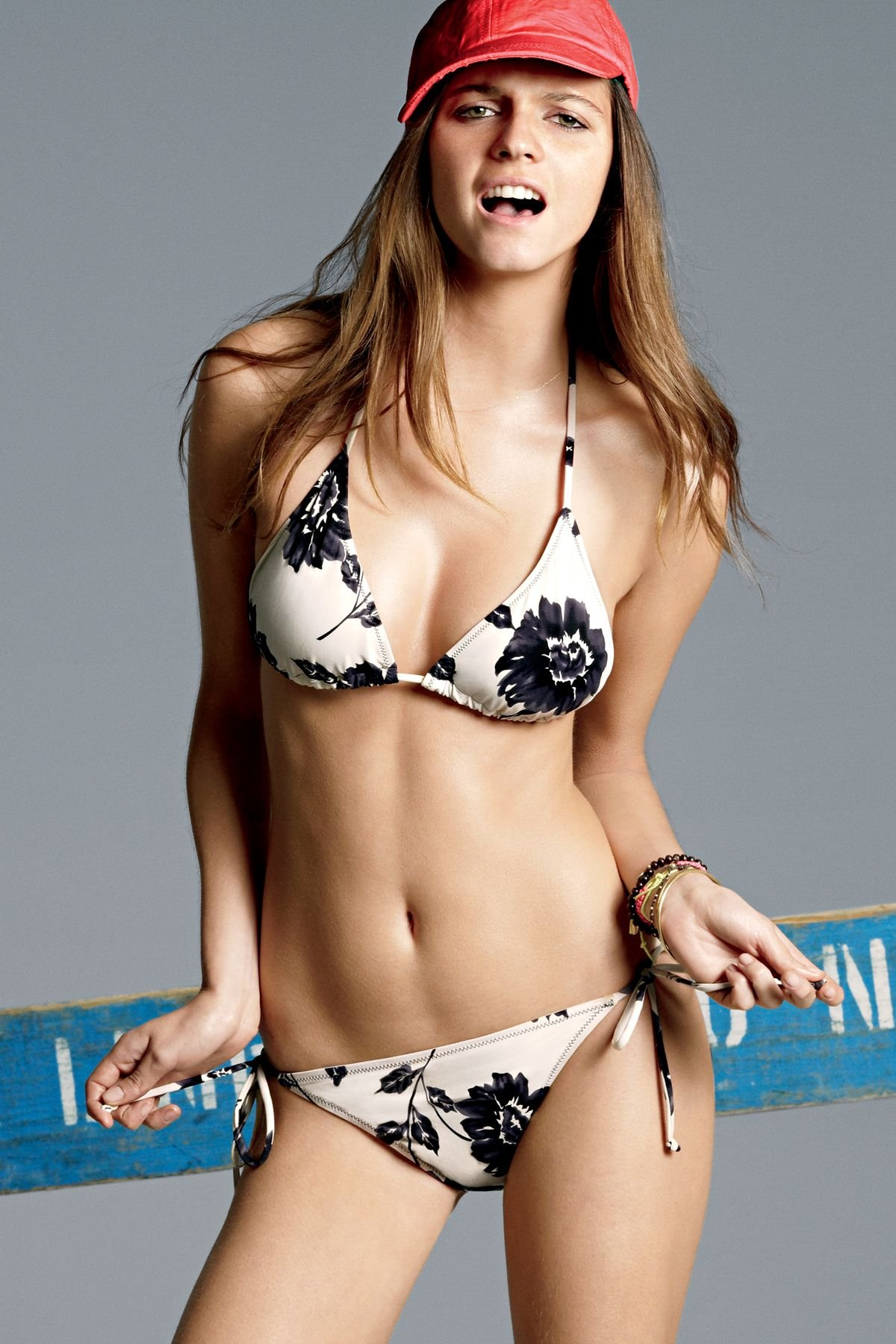 White Bikini Black Flower