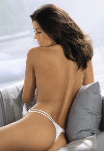 White G-String with Twin String Waistband.