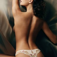 White G-String with Red Flower