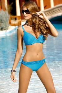 Blue Bikini Scrunch Trim