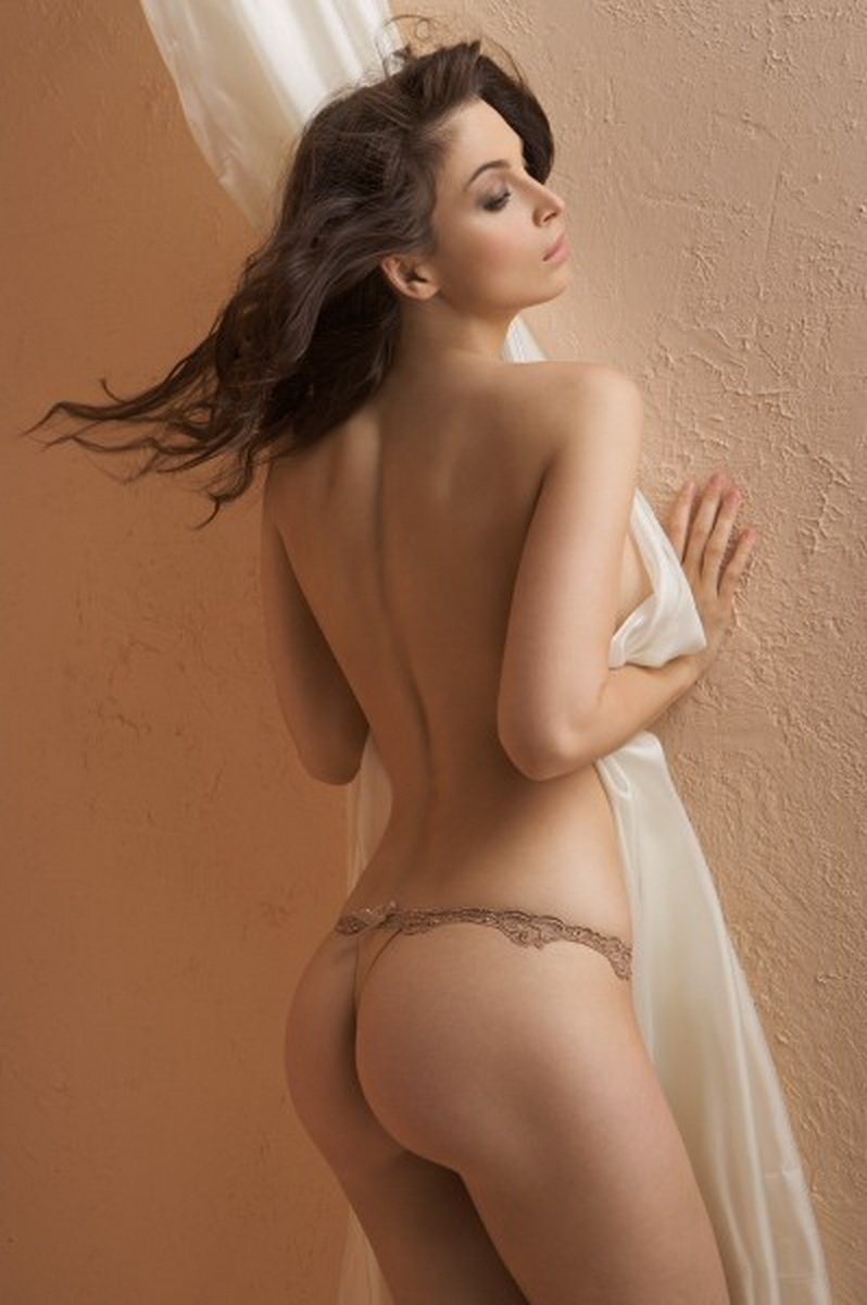 Brown Lace Thong
