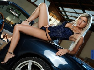 Blue Leopard Print Bustier and matching G-String