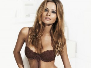 brown lace bra with bow