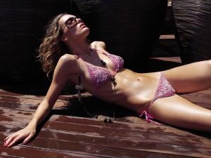 lavender fancy string bikini
