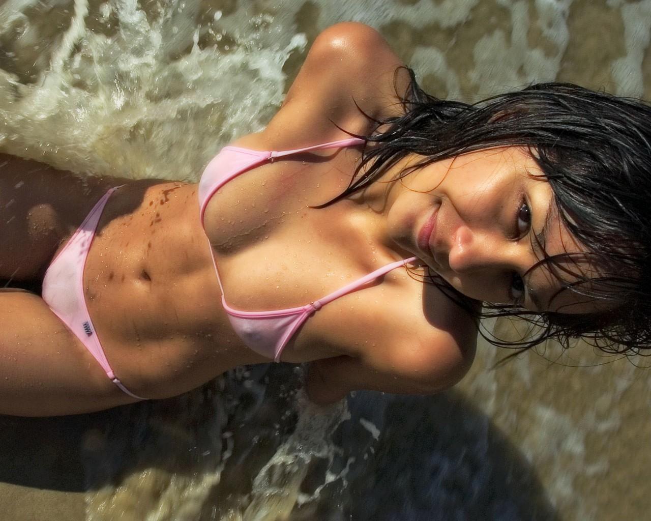 Pink String Bikini