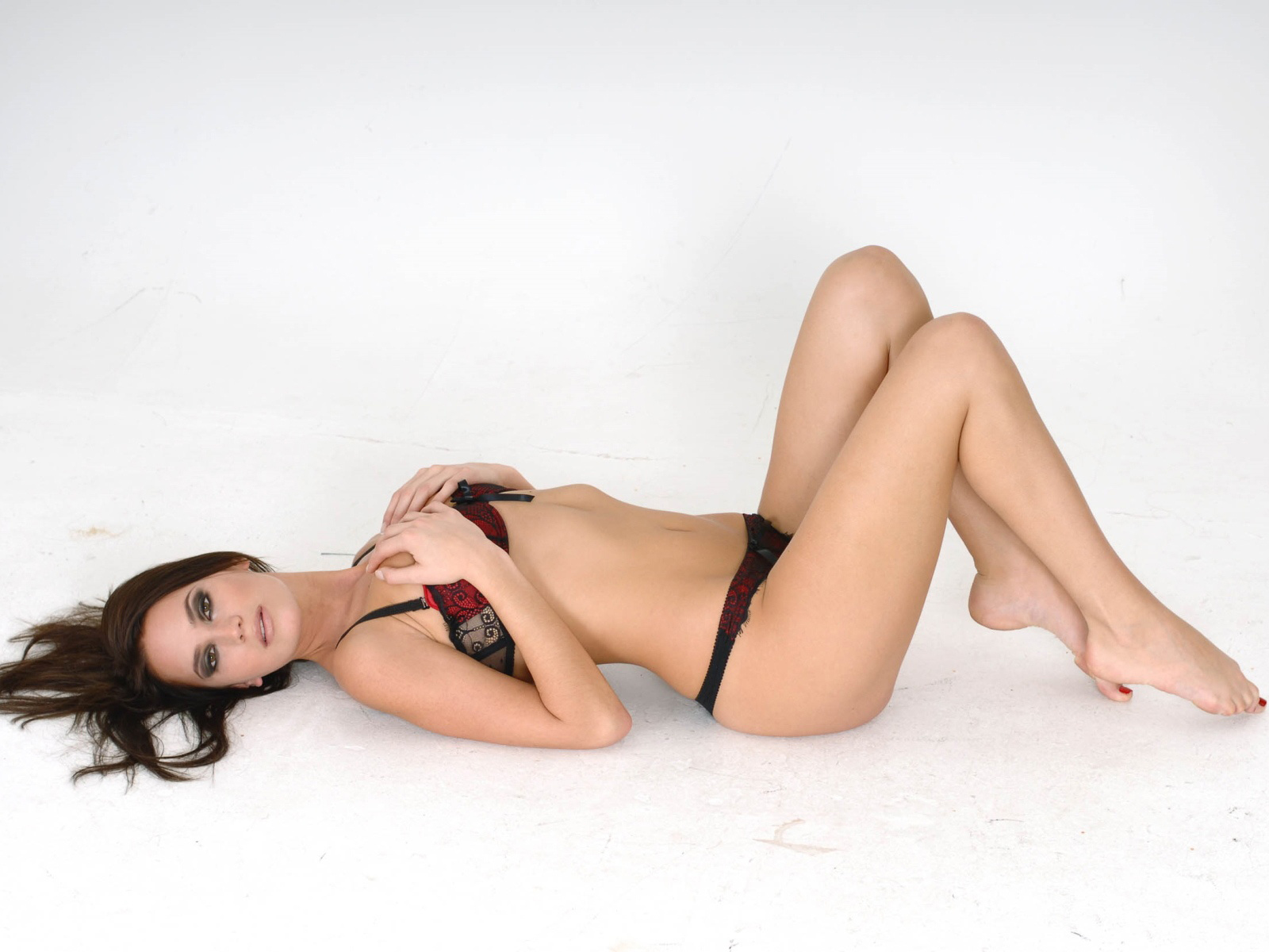 Red And Black Bra Top With Maqtching Panties