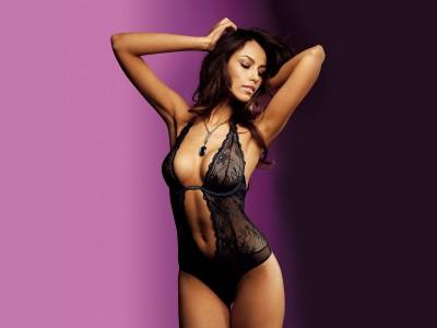 Black,lacey corselette