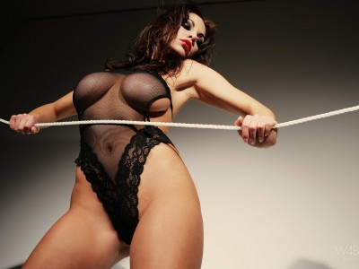 Black,shear corselette