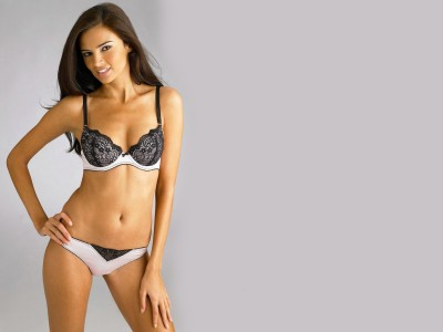 Black,& white fancy pattern bra and knickers