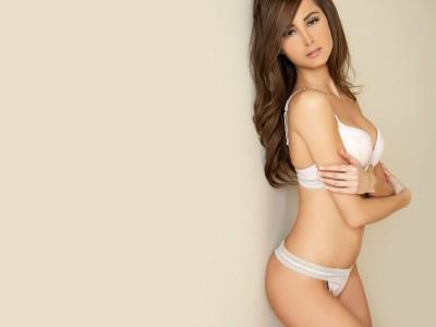 White,bra & thong patterned