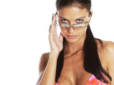 Orange,bikini top sunglasses
