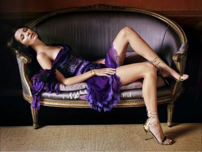 Purple,&blue trim dress gold open sandles