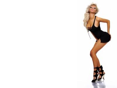 Black,mini dress with open black high heal sandles