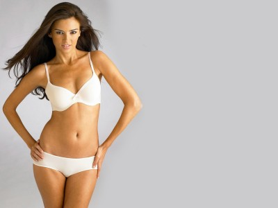 white,bikini plain