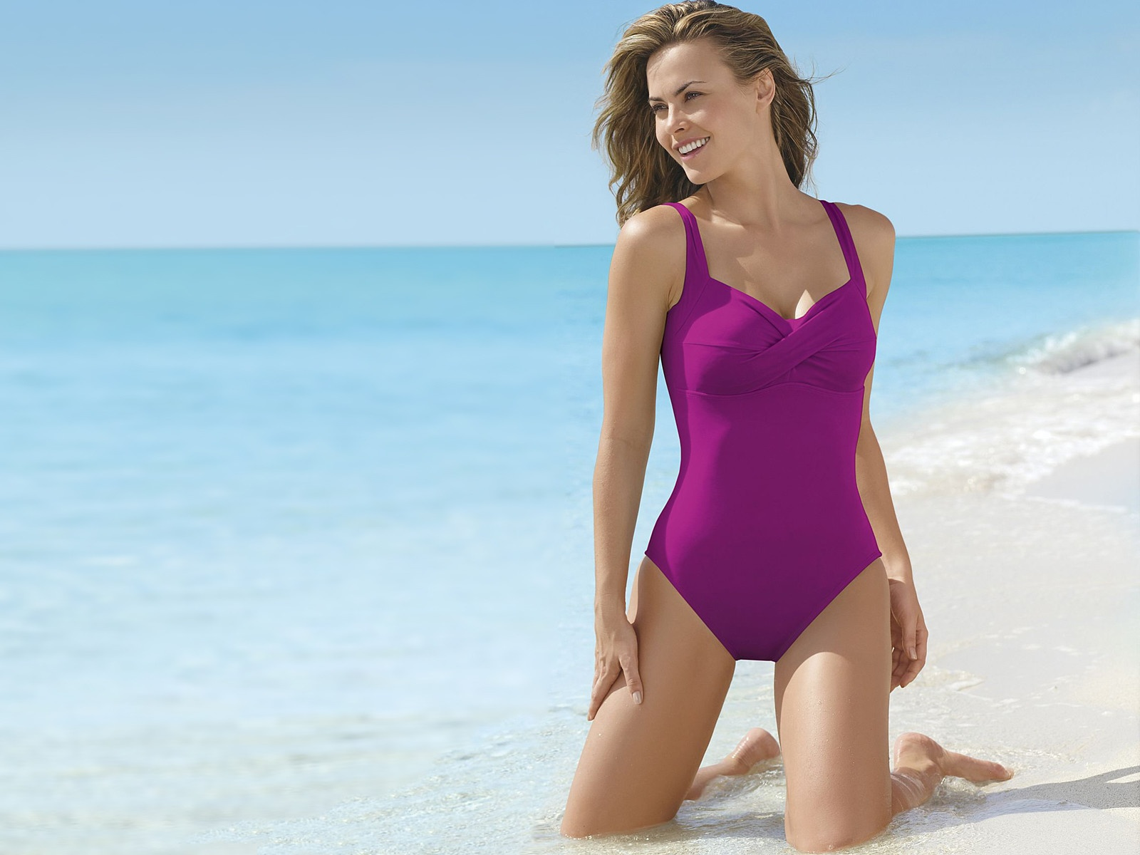 Mauve,swimming Costume