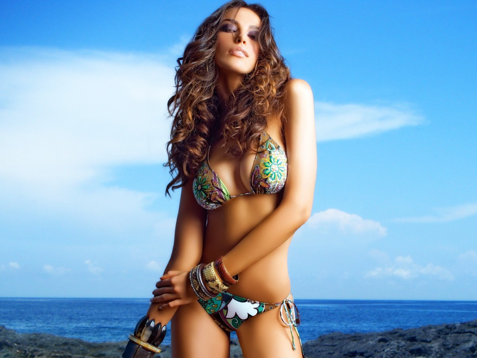 Multi,coloured bikini