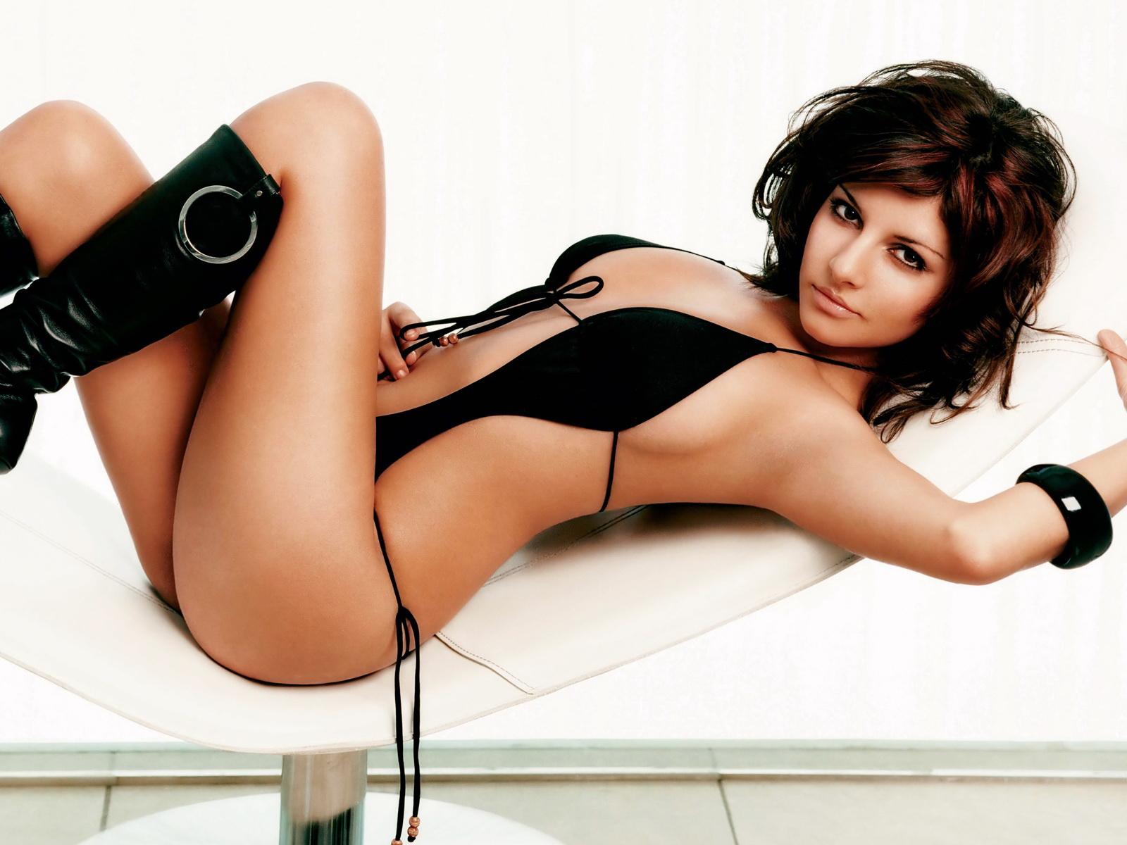 Black,skimpy String Bikini