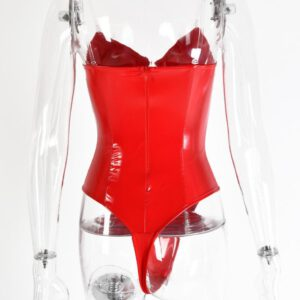 Sexy Leather New Jumpsuit Bodysuit Teddy Underwear Sleepwear Lingerie Underwear plus size lenceria sexi para mujer #@