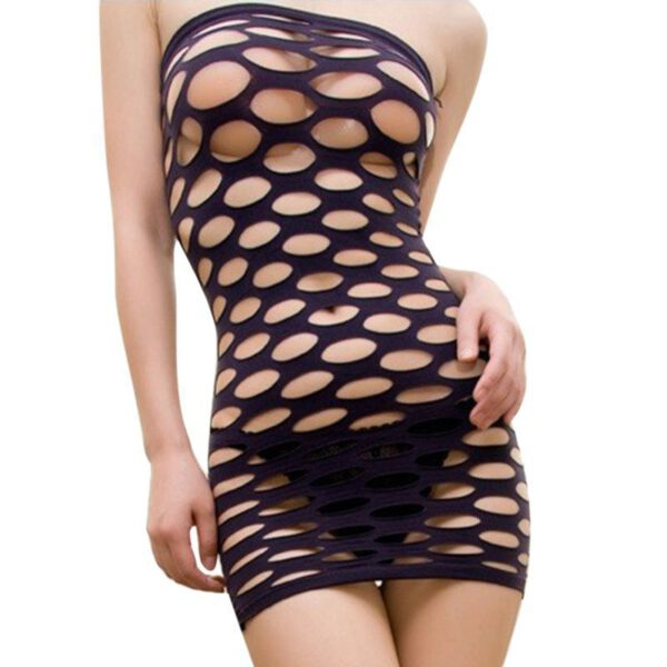Women Sex Underwear Hollow Out Mesh Baby Doll Sexy Lingerie Hot Seamless Mini Dress Erotic Lingerie Sexy Costumes For Women
