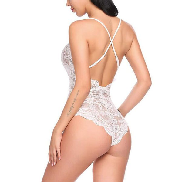 Women's Perspective Jumpsuit Large Size Lace Openwork Bodysuit Sex Lingerie Nightclub Clothing New