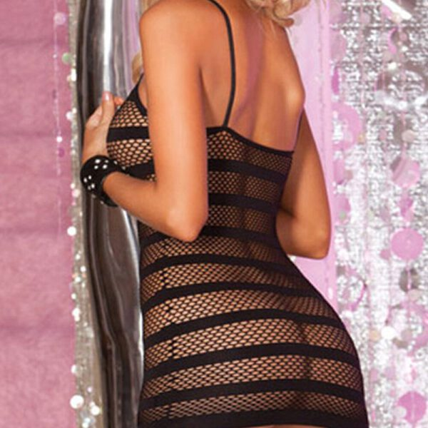 Lady Stripe Condole Belt Fish Net Sex Appeal The Sexy Lingerie