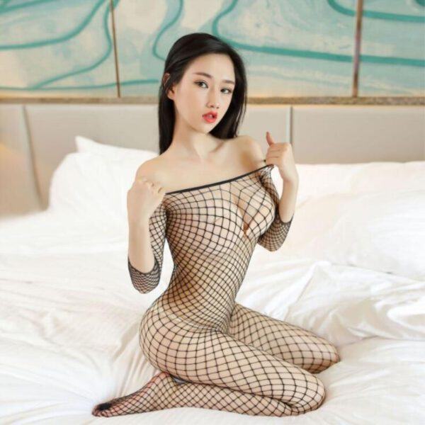 latex catsuit sex Mesh Fishnet Tights Body Suit Stockings Women Erotic Lingerie Sexy Open Crotch Teddies Bodysuits Bodystockings