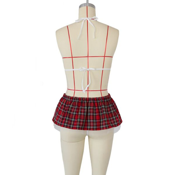 Ladies Sexy Lingerie Sexy Underwear Hot Sheer Naughty Maid Plaid Uniform Outfit Erotic Cosplay Costumes plus size M-3XL