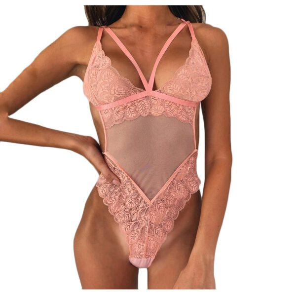 New Sexy Body Suit Mesh Lace Women Sheer Backless Bodysuit Teddy Jumpsuit Lingerie Body Sexy Transparent Bodysuits Drop Ship