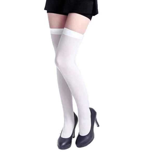 Womail Womens Girls brand new and high quality Fashion Cotton Opaque Over Knee Thigh High Elastic Socks