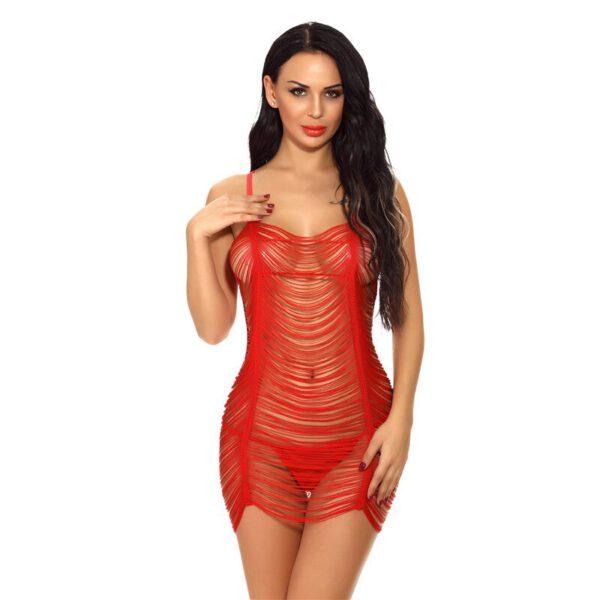 Big Net Hollow Lingerie Babydoll Plus Size XXL Sexy Hot Erotic Porno Underwear Clothes for Women Lace Bodysuit Costumes