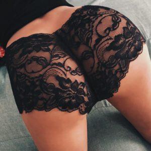 Sex Lingerie Girl High Waist Sexy G-string Brief Panties Thongs Lingerie Knicker Lace Transparent Women's Underwear For Sex