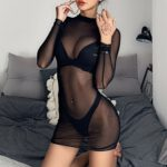 Transparent-Sexy-Dress-Women's-Sheer-Mesh-See-through-Long-Sleeve-Dresses-Crop-Tops-Casual-Clubwear-Mini-Dress-Sexy-Lingerie