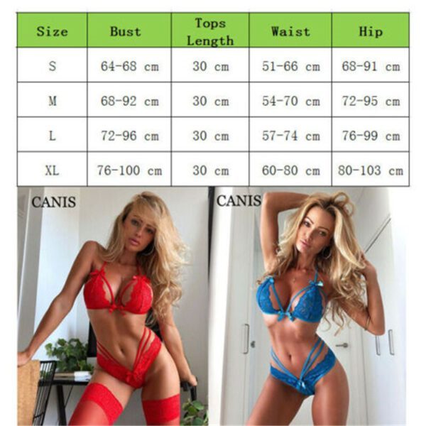 Women Erotic Sexy See-through Nightgown Lingerie Crotchlace Bodysuit Lingerie Set Sexy Underwear Lace Nightwear