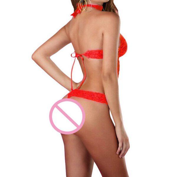 Ladies Lace Cross Belt Hollow Bra Translucent Bandage Sexy Lingerie Bra Set Intimates Underwear Set Lace Bra And Panty Set