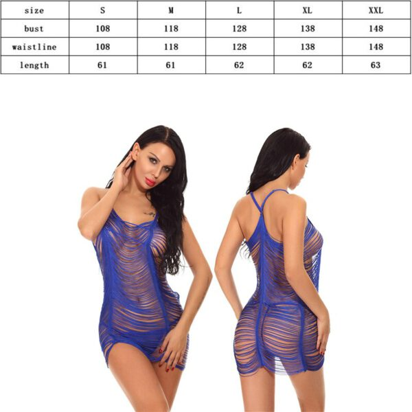 Big Net Hollow Lingerie Babydoll Plus Size XXL Sexy Hot Erotic Porno Underwear Clothes for Women Lace Bodysuit Costumes