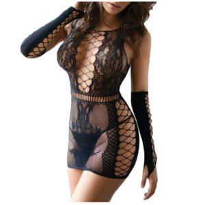 Women Sexy Lingerie Sleepwear Babydoll Bodystocking Fishnet Lingerie Lace Teddy Robes Sexy Underwear Erotic Costumes Nightwear