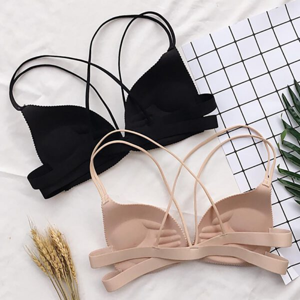 New Women Bralette Sexy Llingerie Wireless Bra Top Vest Breathable Chest Pad Wearing Solid Underwear Hot Sale Sports Bra 2020