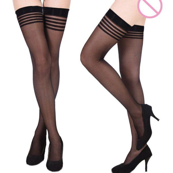 Women Sexy Pantyhose Soft Tights Lingerie Silk Stockings Erotic Bodysuit Ladies See-through Socks Hosiery Lingerie