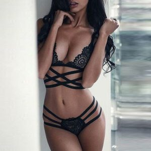 Sexy Lace Bra Women Lingerie Corset Lace Bandage Push Up Top Bra+Pants Underwear Set New Sexy Fashion Women Bras Underwears 2020