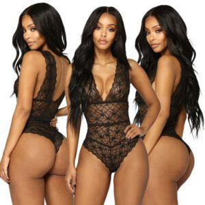 2019 Newly Women Sexy Lingerie Sleepwear Lace Women Babydoll Bodysuit Nightwear Size S M L XL XXL