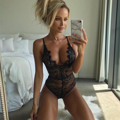 Women Sexy Plus Size Exotic Lace Solid Dress Bodysuit Lingerie Nightwear Underwear Babydoll Sleepwear
