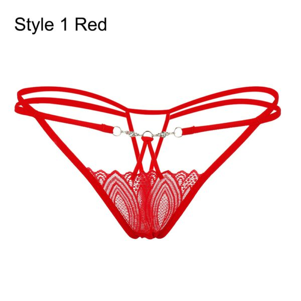 Fashion Women Sexy Lace Flowers Panties Summer Low Waist G-string Transparent Seamless T-back Briefs Underpants Erotic Lingerie