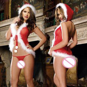 Sexy Lingerie Christmas cekc sexy kerst lingerie set hot christmas sexy Langerie Para Navidad 2019 Christmas Sexy Underwear D3